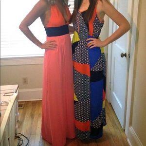 BCBG Color Block Maxi Dress